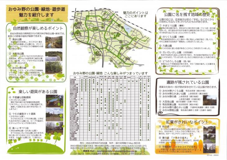 おゆみ野の公園・緑地・遊歩道の魅力を紹介します。