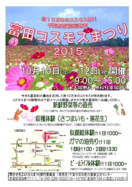 富田コスモスまつり2015☆イベント情報☆