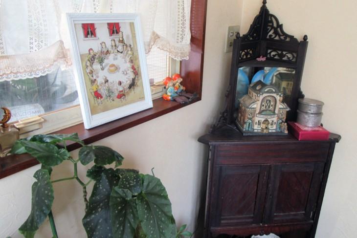 △オルゴール付時計やランプなどもおしゃれでした