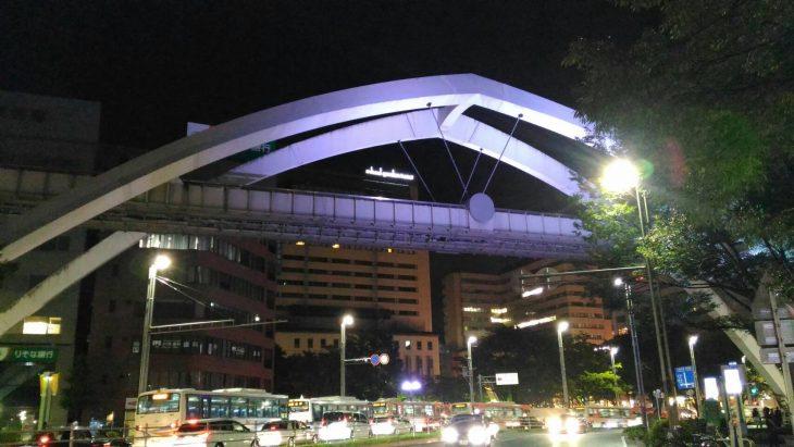千葉モノレール「セントラルアーチ」ライトアップ実施中!!@千葉市中央公園付近