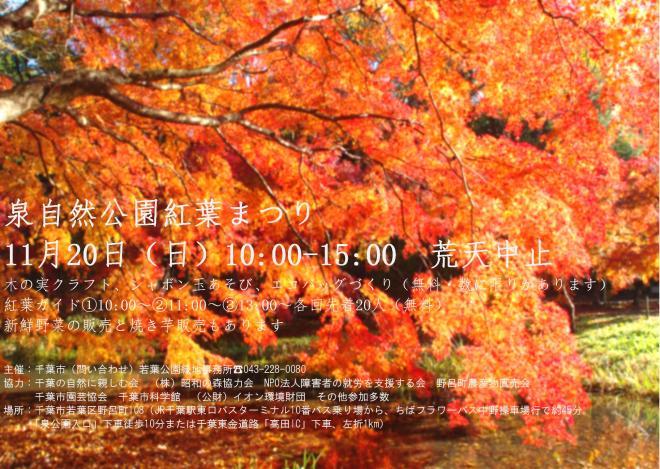 泉自然公園紅葉まつり<11/20(日)>