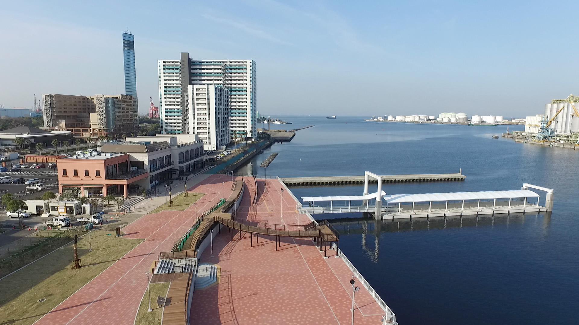「千葉みなと桟橋(千葉県千葉市中央区中央港1-20-1)」の画像検索結果