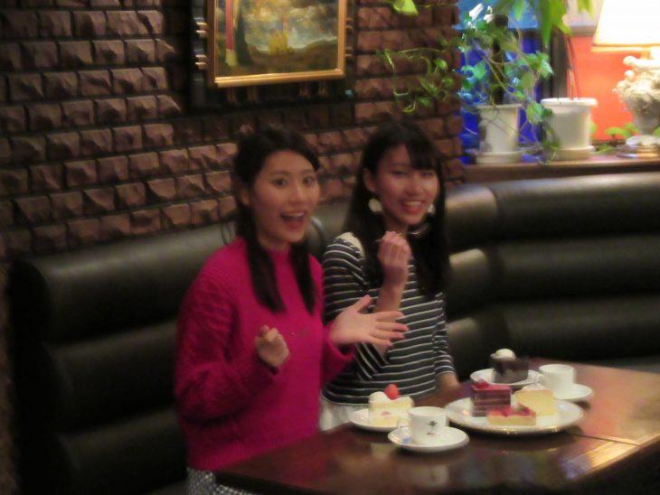 △おすすめの「ショートケーキ」と「ガトーショコラ」を頂きました。(写真がボケてしまっていて申し訳ありません)