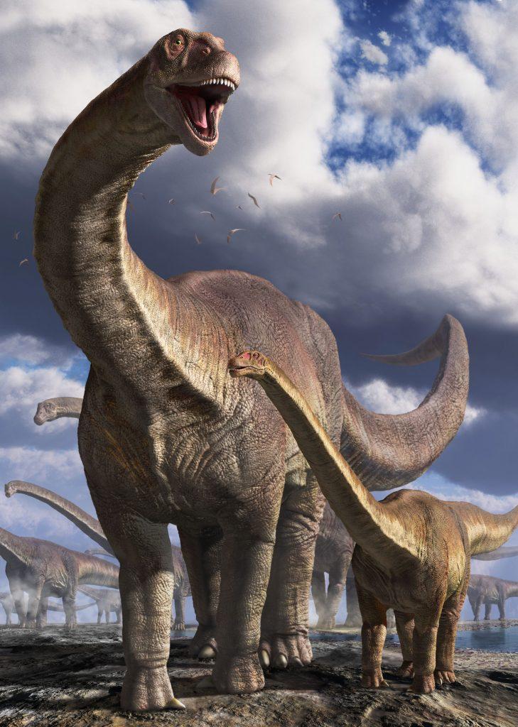 ①ルヤンゴサウルス 環境復元画