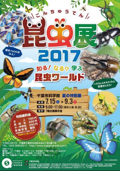 夏の特別展「昆虫展2017~知る!なる?学ぶ昆虫ワールド」@千葉市科学館<7/15(土)~9/3(日)>