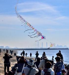 第43回新春市民凧あげ大会@いなげの浜<1/14(日)>