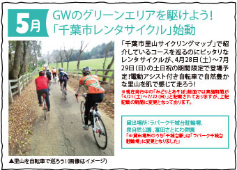 GWのグリーンエリアを駆けよう!「千葉市レンタサイクル」始動