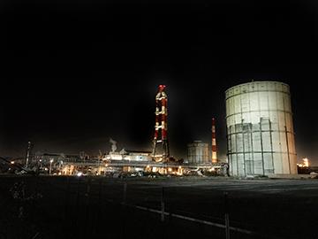 スマホで撮る工場夜景