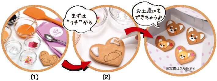 アイシングクッキー作りの流れ