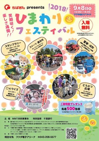 ちばぎんpresents「ひまわりフェスティバル」@フクダ電子アリーナ<9/8(土)>