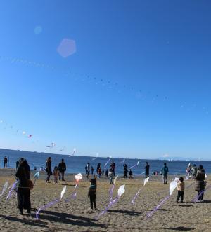第44回新春市民凧あげ大会@いなげの浜<1/13(日)>