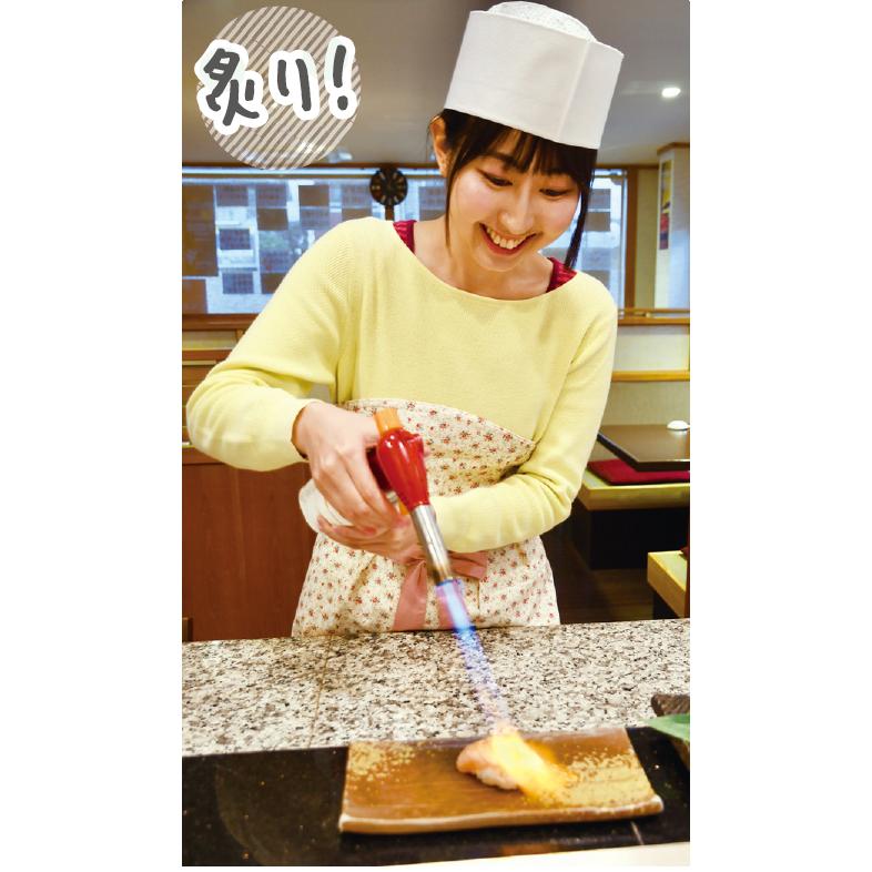 ▲煮切り醤油を塗ってから一気にバーナーで炙ろう!焼き目をつけたい衝動でのやり過ぎにご注意を