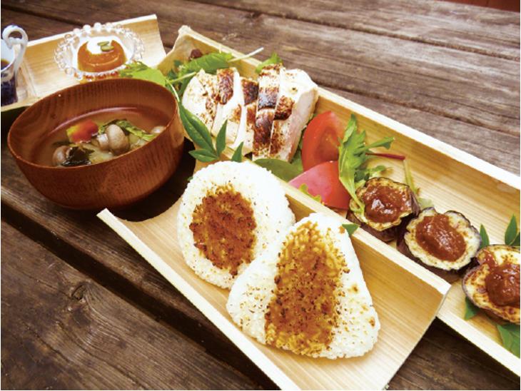 ▲地元で採れた食材にこだわった味噌づくしの発酵御膳
