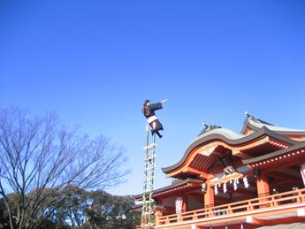 新春行事 はしご乗り@千葉神社<1/3(金)>