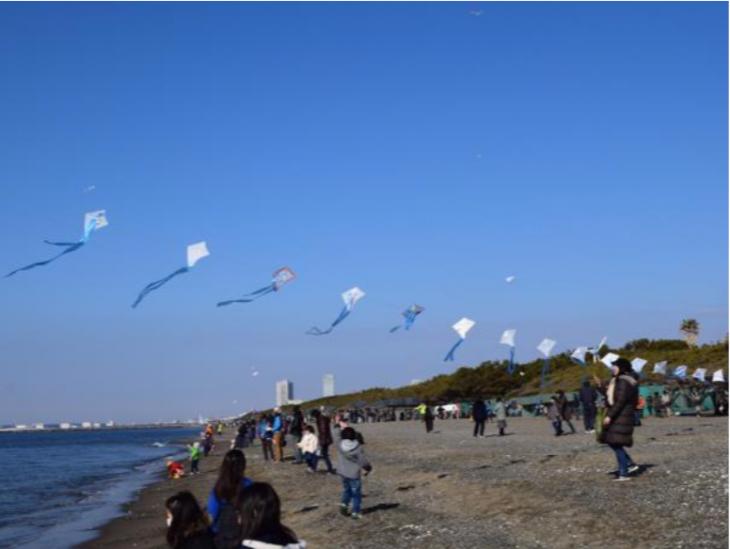 第45回新春市民凧あげ大会@いなげの浜<1/12(日)>