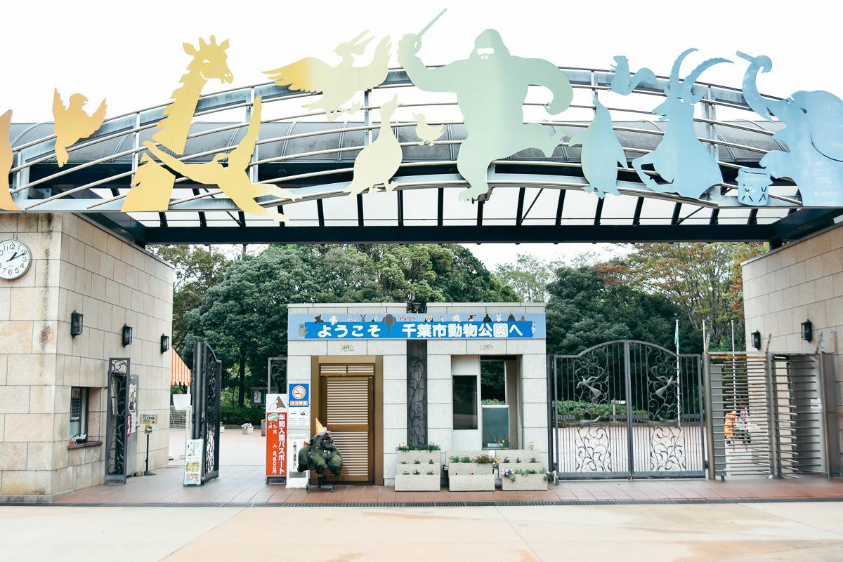 千葉市動物公園のエントランス